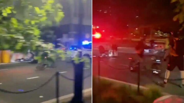 Driver hits two protesters near Brooklyn Bridge, NYPD car clips cyclist