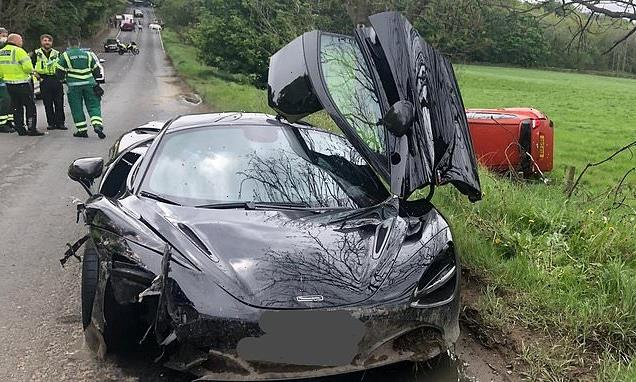 Driver of £165,000 McLaren crashes into car while doing overtake