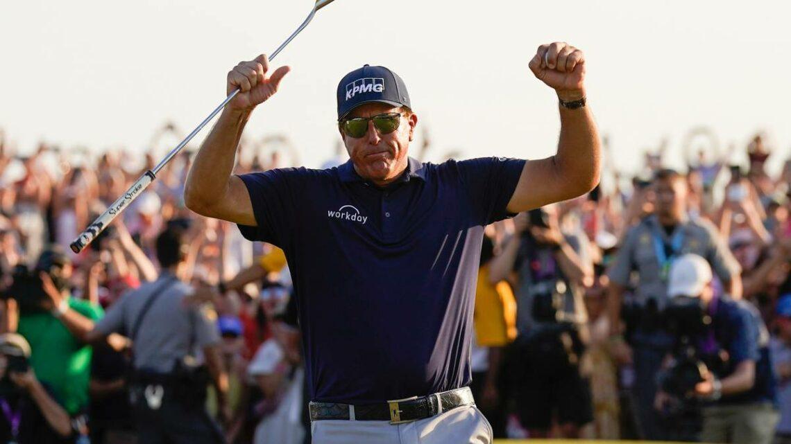 Golf: Phil Mickelson makes history as oldest major winner at PGA Championship