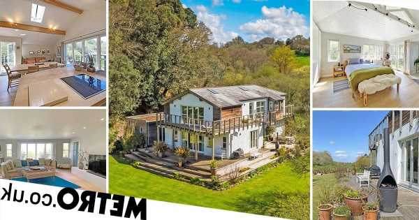 House that sits in the woods but has sea views too on sale for £1.5million