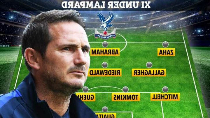 How Frank Lampard could line Crystal Palace up if he becomes boss with huge changes along with Tammy Abraham transfer