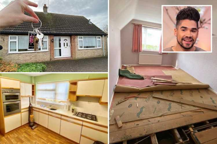 Inside ex Strictly star Louis Smith's huge home renovation as he struggles with DIY disasters and does the work himself