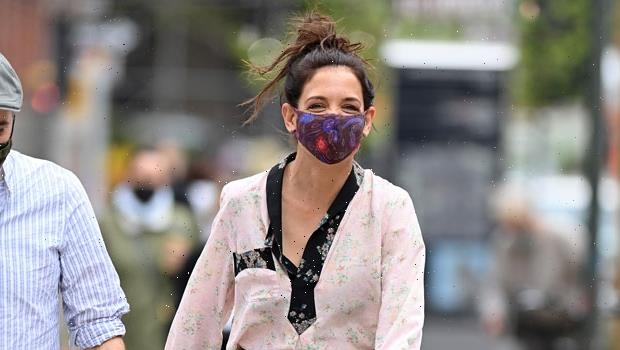 Katie Holmes, 42, Rocks Gorgeous Dresses On The Set Of 'Watergate Girl' In NYC — See Pics