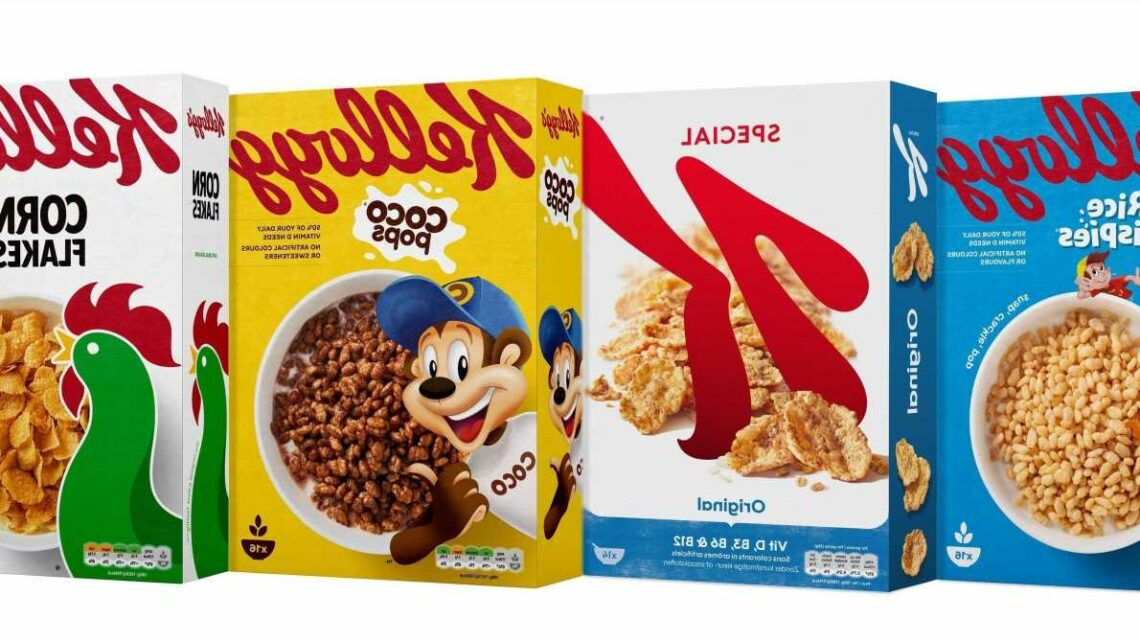 Kellogg's will reduce its annual cardboard and plastic use by half a ton every DAY by making smaller cereal boxes