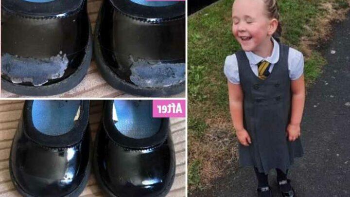 Mum's genius 89p hack stops her having to buy her daughter new school shoes