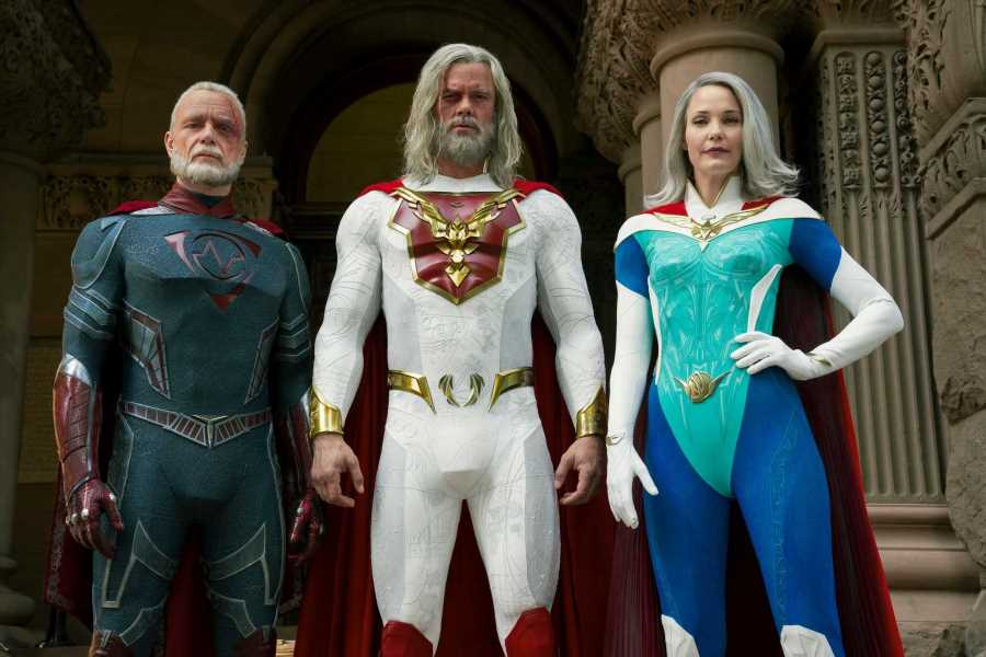 Netflix fans left hot under the collar by Jupiter's Legacy hunks in VERY tight outfits