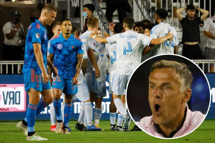 Phil Neville's tough start to life at Inter Miami continues as his side is thrashed 3-0 at home by DC United