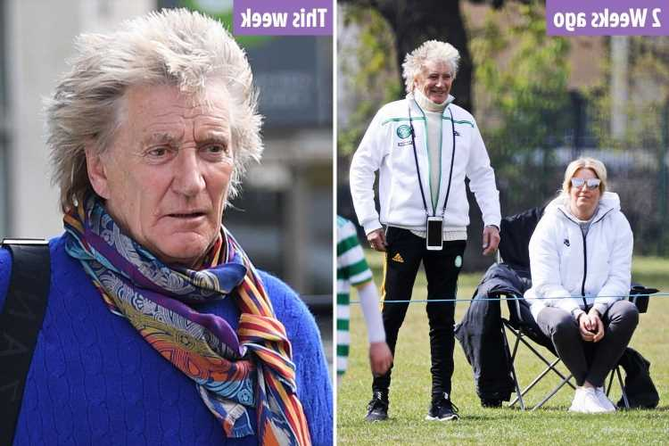 Rod Stewart has a 'same-hair day' despite spending four hours in the salon