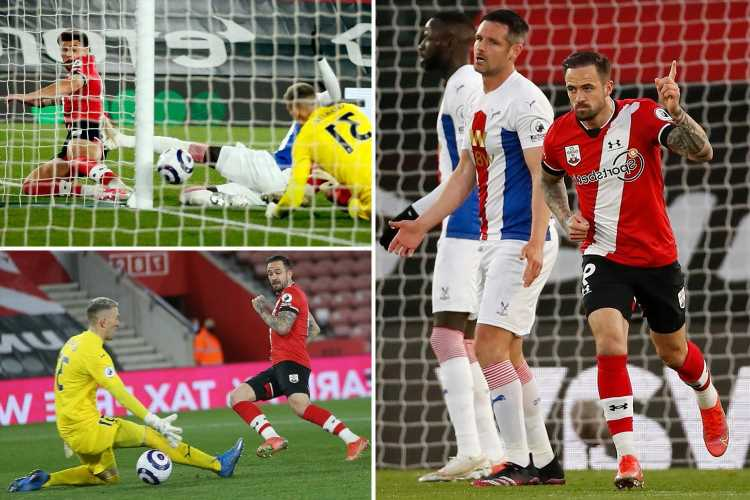 Southampton 3 Crystal Palace 1: Ings scores twice and Forster denies Milivojevic penalty in comeback win