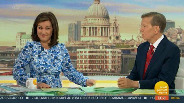 Susanna Reid teases 'saucepot' Bill Turnbull over his cheeky sex jokes on Good Morning Britain