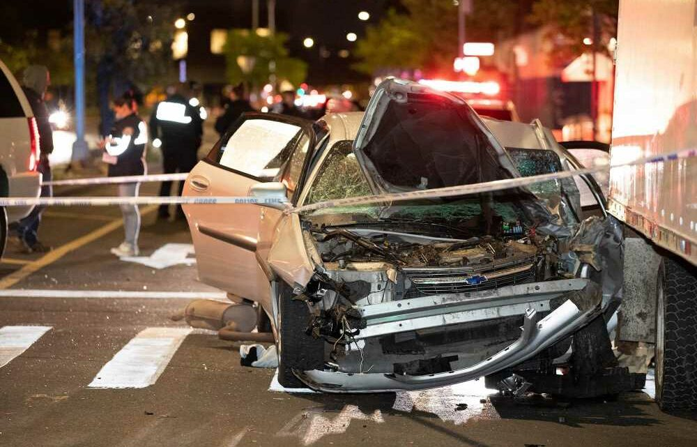 Teen clinging to life after smashing stolen car into NYPD cruiser: cops