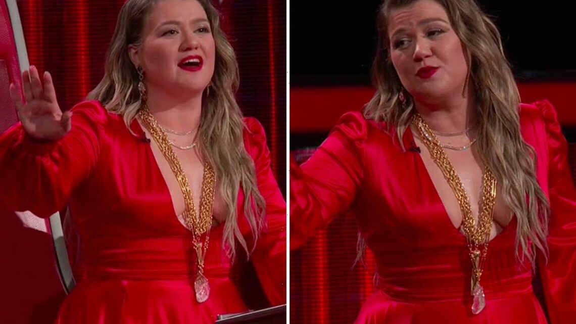 The Voice's Kelly Clarkson attacked by trolls for wearing plunging red dress on finale