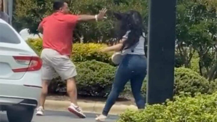 Video shows wild fight at North Carolina gas station amid panic buying