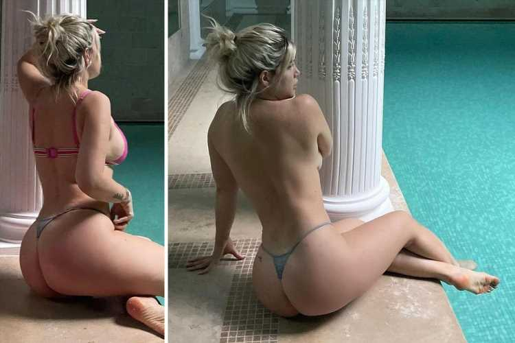 Wanda Nara goes topless at spa as PSG star Mauro Icardi's wife stuns Instagram with intimate poolside shoot