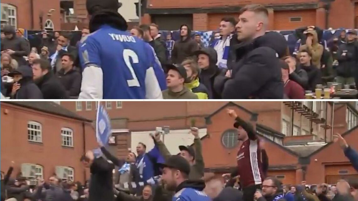 Watch Leicester fans celebrate in pub as VAR comes to rescue and disallows Ben Chilwell's dramatic late equaliser