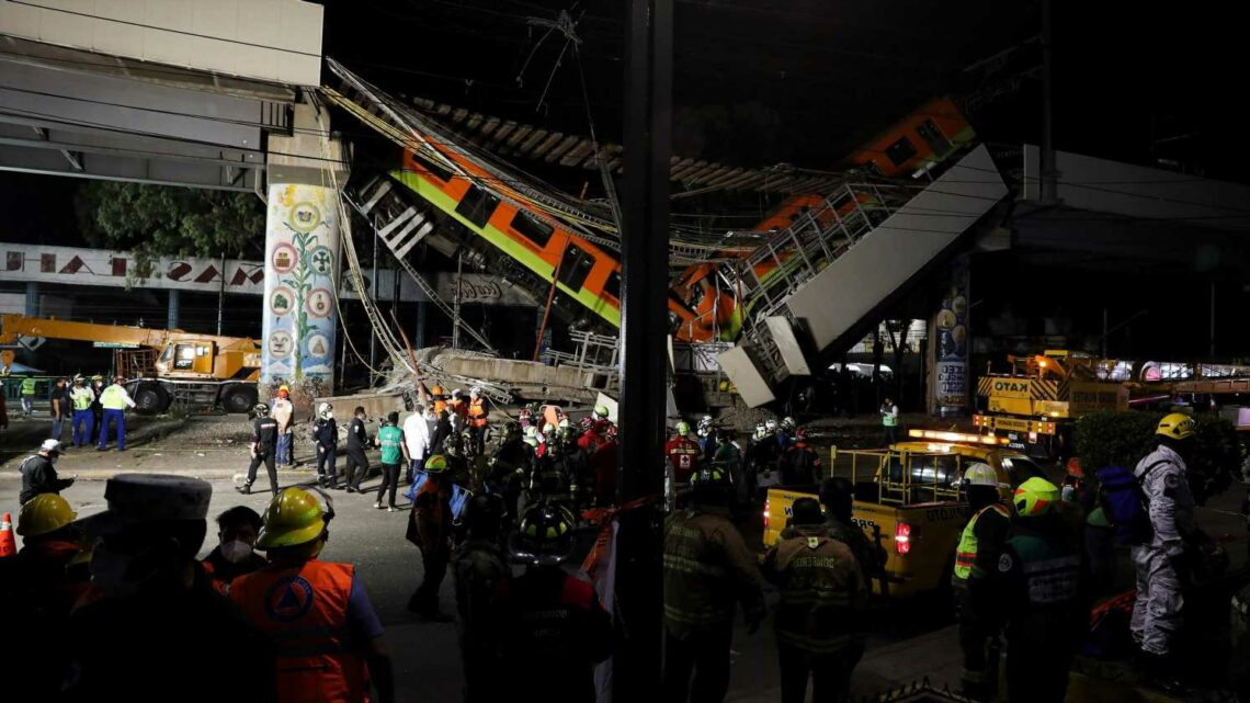 'We don't know if they are alive': Rescuers search for survivors after Mexico City train overpass collapse kills at least 23