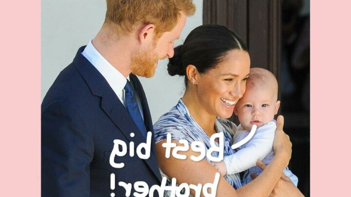 AWW! Prince Harry & Meghan Markle's Son Archie Is 'Very Happy' To Have Little Sister Lilibet Diana!