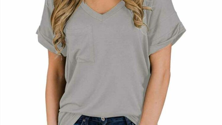Amazon's Best-Selling V-Neck Top That Comes in Dozens of Colors Is on Sale for Under $20