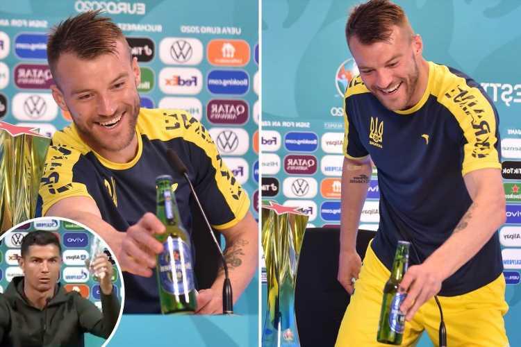 Andriy Yarmolenko pokes fun at Cristiano Ronaldo as Ukraine ace asks Coca-Cola and Heineken for sponsorship deals