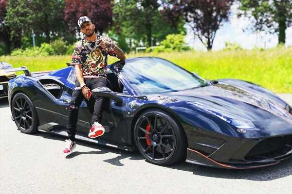 Arsenal star Aubameyang takes £205k Ferrari 488 Spider Mansory out in hometown Laval before giving it to brother