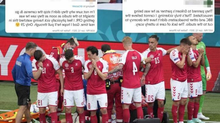 BBC apologises after Euro 2020 fans slam them for not cutting away after Christian Eriksen collapsed on pitch