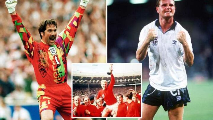 Best and worst England kits, from Moore's iconic 1966 shirt to Seaman's garish Euro 96 goalie jersey – The Sun