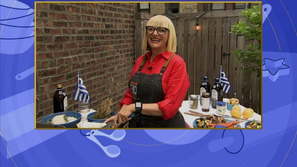 Chef Maria Loi shares recipes for grilled Greek chicken, easy summer salad