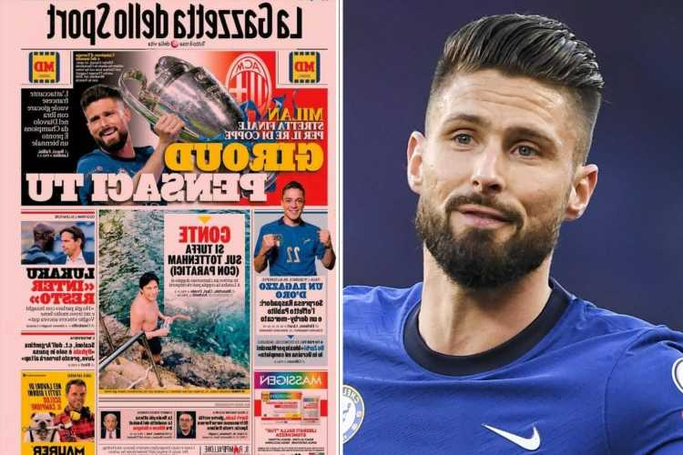 Chelsea star Olivier Giroud closing in on AC Milan free transfer and striker dreams of playing with Zlatan Ibrahimovic