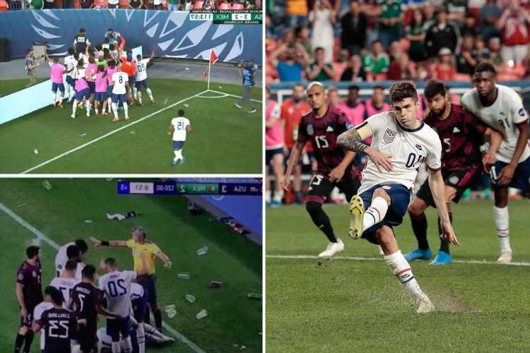 Chelsea star Pulisic scores winner as USA's win over Mexico marred by homophobic chants and fans throwing objects