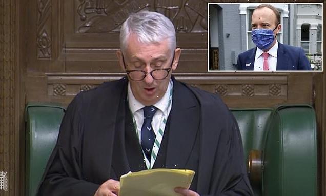 Commons Speaker orders security review after Hancock CCTV leak