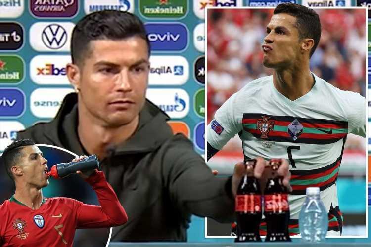 Cristiano Ronaldo outburst sees Coca-Cola lose $4BILLION in value as Pogba and Locatelli copy Portugal captain's stunt