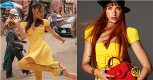 Dua Lipa and Ariana Grande Establish This Little Yellow Versace Dress as the Look of the Summer