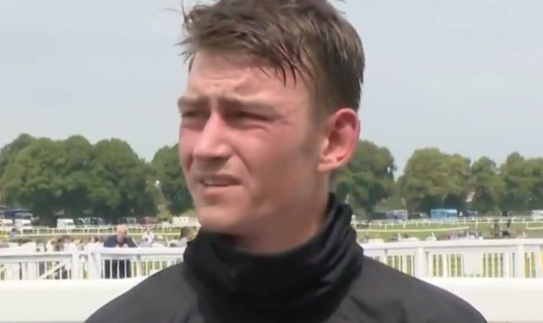 Emotional jockey whose mum suffered heart attack rushes off to hospital to celebrate first winner at her bedside