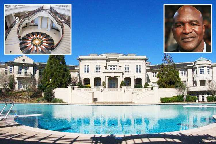 Evander Holyfield's amazing 109-room Georgia home he sold to Rick Ross for £4.7m boasts bowling alley, theatre and pool – The Sun