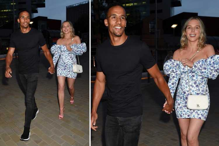 Helen Flanagan flashes her legs in floral dress as she takes break from mum duty for date night with fiance Scott
