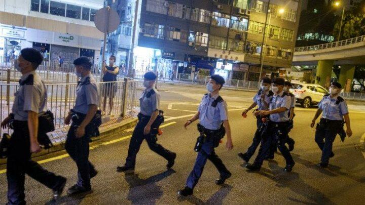 Hong Kong locks down Tiananmen vigil park, police arrest organiser