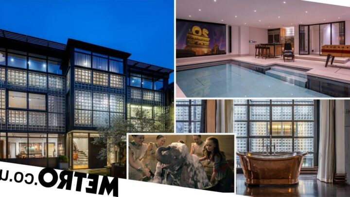 Industrial glass house where Tim Burton wrote Dumbo movie on sale for £20million