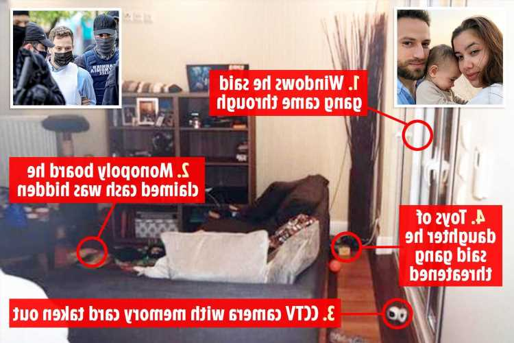 Inside Caroline Crouch's living room where killer husband staged burglary to cover up her 'murder'