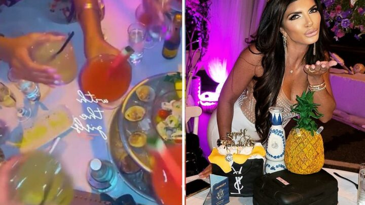 Inside RHONJ star Teresa Giudice's 49th birthday celebration with Bravo costars featuring a YSL cake and sparklers