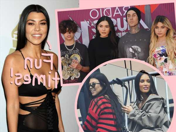 Kourtney Kardashian Bonds With Travis Barker's Kids & Famous Friends During 'Best Weekend' Beach Getaway!