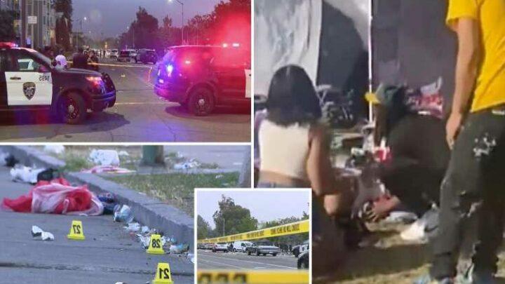 Lake Merritt shooting – Dogwalker caught in gunfire at Juneteenth parade that left 1 dead thought shots were FIREWORKS