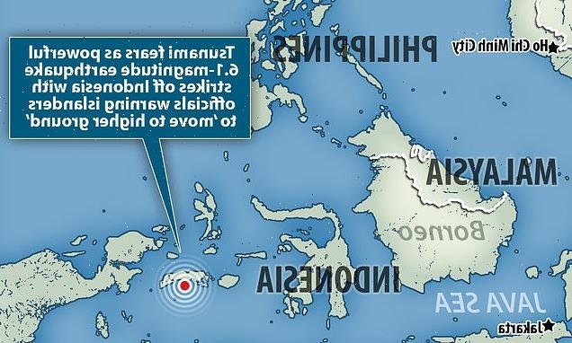 Magnitude 6.1 quake hits near Indonesia's Moluccas islands