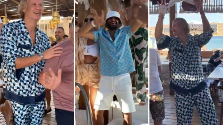Man City transfer target Erling Haaland parties with Riyad Mahrez in Mykonos after missing out on Euro 2020
