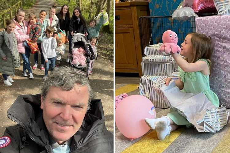 Mum-of-22 Sue Radford celebrates Hallie's sixth birthday with huge pile of presents after spending £90k on kids' gifts