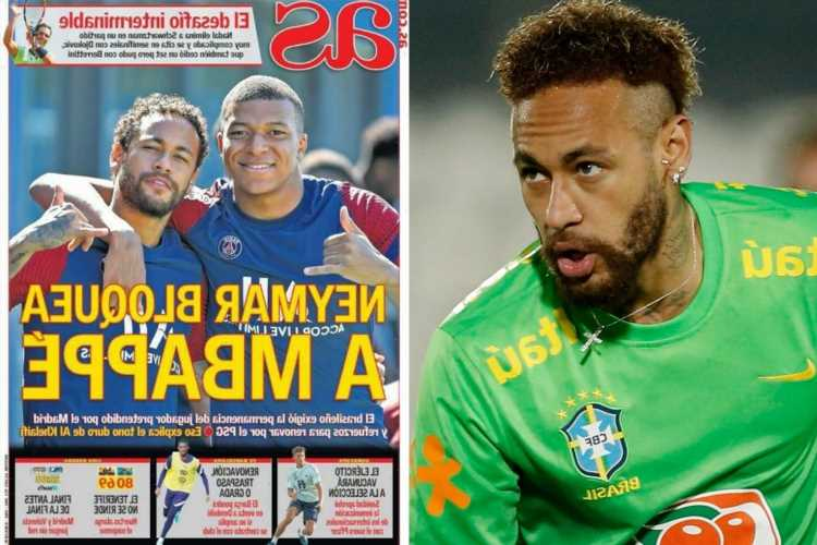 Neymar 'BLOCKS Real Madrid transfer move for Kylian Mbappe with guarantee striker will stay as part of new PSG contract'