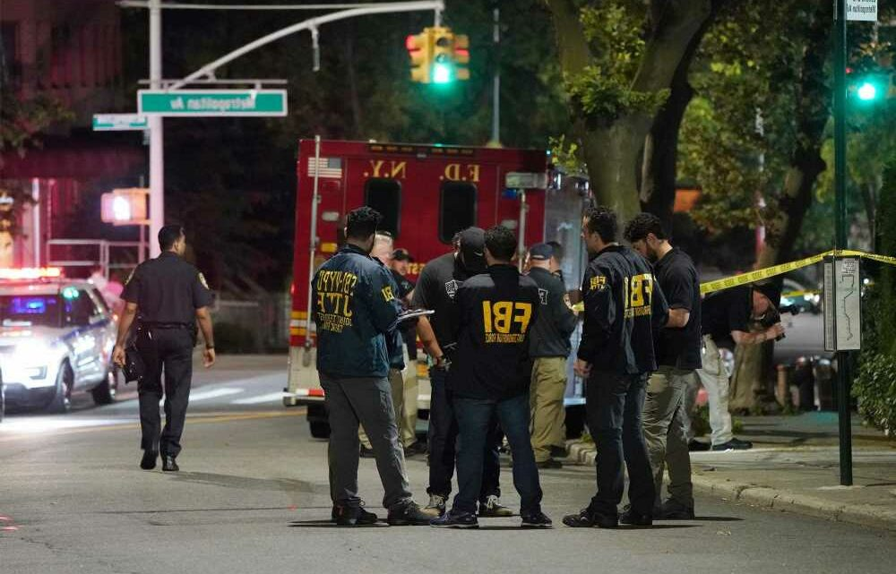 People hurl firework from van during fight outside NYC synagogue