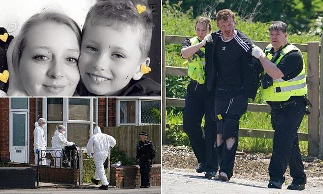 Police fear suspect 'got a lift' before mother and son, 9, were knifed