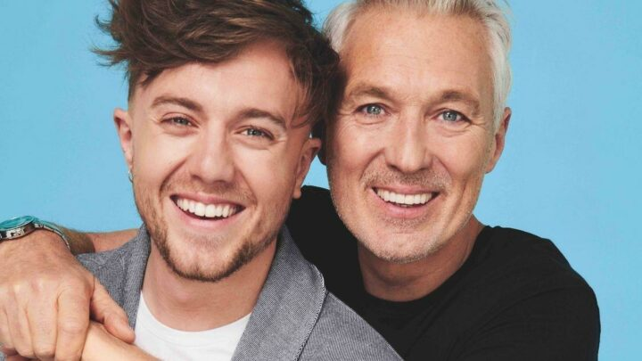 Roman Kemp says working with dad Martin is 'carnage' as pair launch new clothing collection