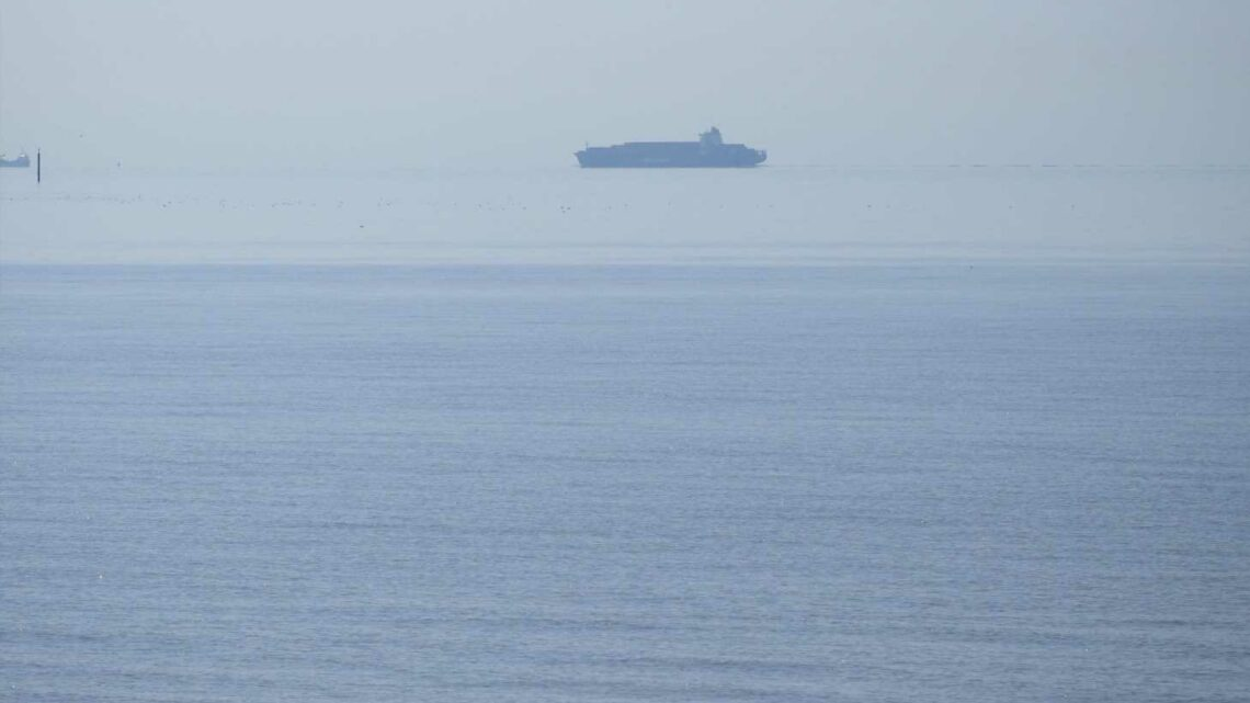 Ship HOVERS off the coast of Kent as mind-bending optical illusion leaves witnesses stumped