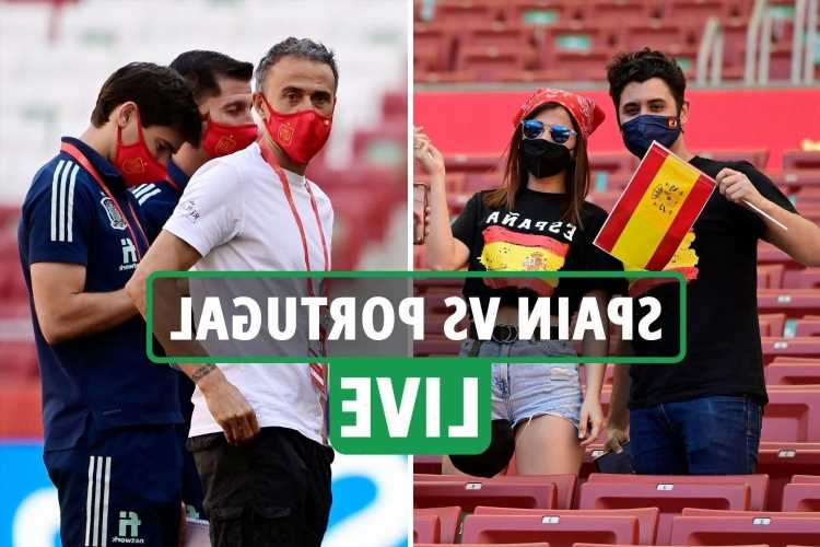 Spain vs Portugal LIVE: Stream, TV channel, kick-off time, teams – Laporte makes Spain debut in Euro 2020 warm-up